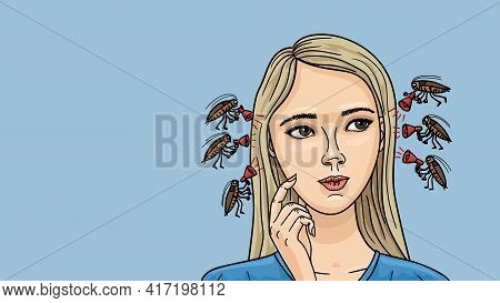 Cockroaches Settled In The Gir S Head. They Advise Ridiculous Thoughts.