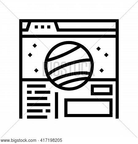 Web Site Planetarium Line Icon Vector. Web Site Planetarium Sign. Isolated Contour Symbol Black Illu
