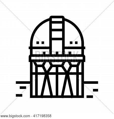 Building Planetarium Line Icon Vector. Building Planetarium Sign. Isolated Contour Symbol Black Illu