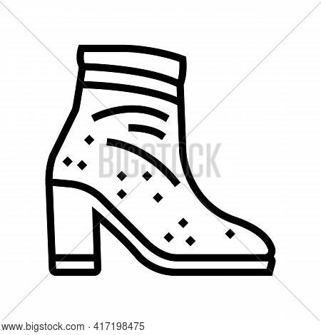 Velvet Shoe Care Line Icon Vector. Velvet Shoe Care Sign. Isolated Contour Symbol Black Illustration