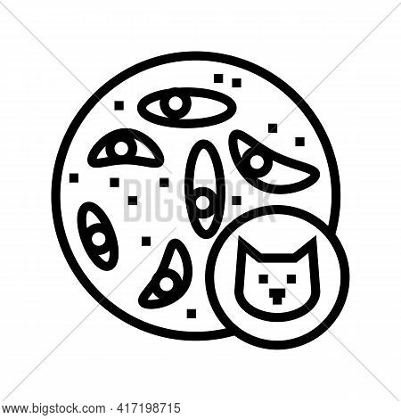 Epithelial Tissue Line Icon Vector. Epithelial Tissue Sign. Isolated Contour Symbol Black Illustrati