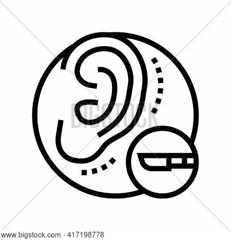 Ear Surgery Line Icon Vector. Ear Surgery Sign. Isolated Contour Symbol Black Illustration