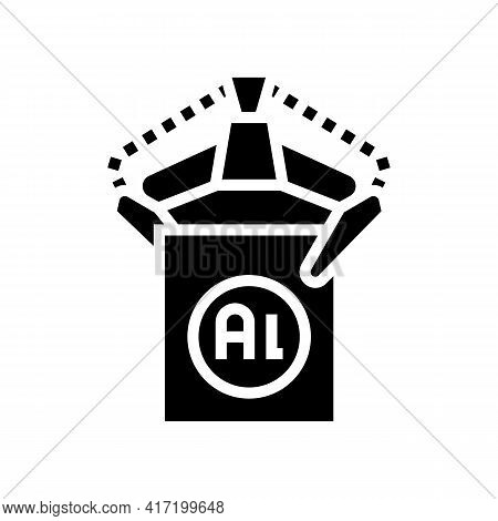 Carrying Aluminium Production In Plant Line Icon Vector. Carrying Aluminium Production In Plant Sign