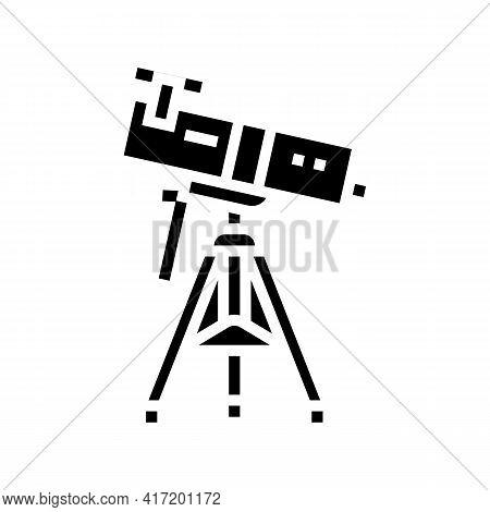Reflector Planetarium Line Icon Vector. Reflector Planetarium Sign. Isolated Contour Symbol Black Il