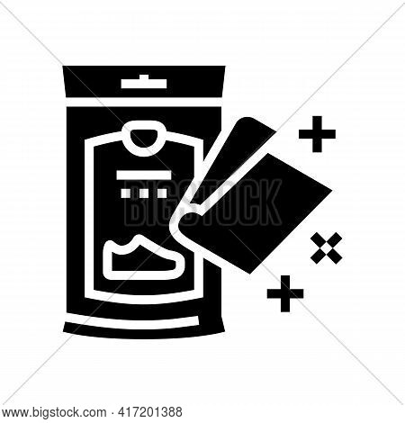 Napkin Package For Shoe Care Line Icon Vector. Napkin Package For Shoe Care Sign. Isolated Contour S