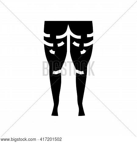 Cellulite Problem Line Icon Vector. Cellulite Problem Sign. Isolated Contour Symbol Black Illustrati