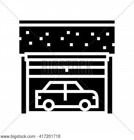 Underground Car Parking Line Icon Vector. Underground Car Parking Sign. Isolated Contour Symbol Blac