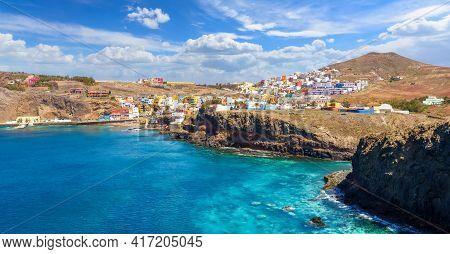 Landscape With Sardina De Galdar, Small Village In North Gran Canaria, Spain