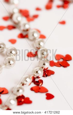 Glitter Hearts And Pearls