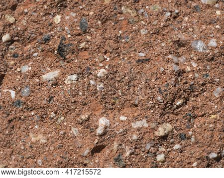 Orange Grunge Plaster Texture With Multi Color Grit And Stones Grain Background