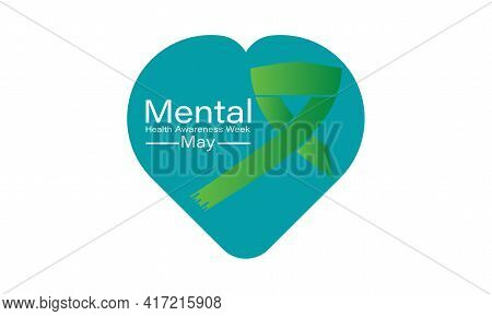 Mental Health Awareness Week Observed On Annual Calendar Of Every May Month Awareness Vector Illustr
