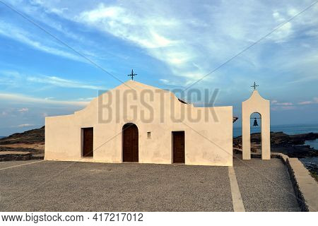 Orthodox Chapel Of Saint Nicholas On The Island Of Zakynthos In Greece