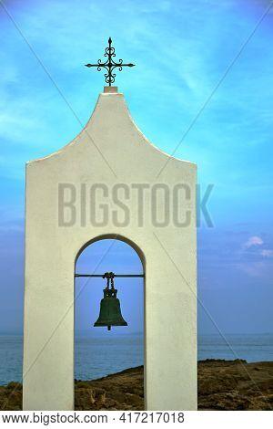 Belfry Of Orthodox Chapel On The Island Of Zakynthos In Greece