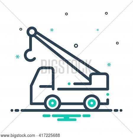 Mix Icon For Crane-truck Crane Truck Construction-crane Vehicle