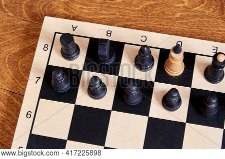 Conceptual Picture Of A Foreign Spy Embedded In Government Based On Chess Pieces. Symbol And Concept