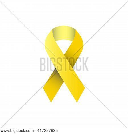 Illustration Vector Graphic Of Yellow Ribbon Symbol Of Bladder Cancer
