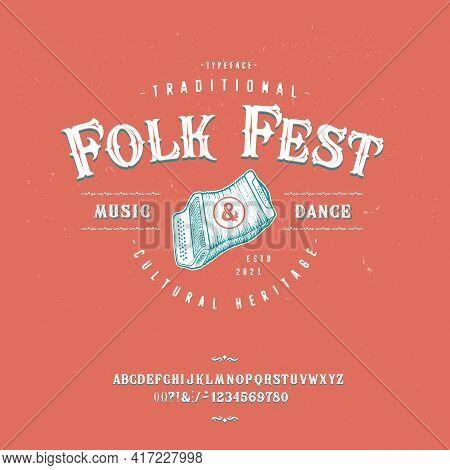 Font Folk Fest Craft Retro Vintage Typeface Design