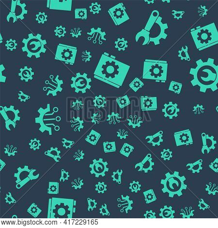 Set User Manual, Wrench Spanner And Gear, Algorithm And Wrench Spanner And Gear On Seamless Pattern.