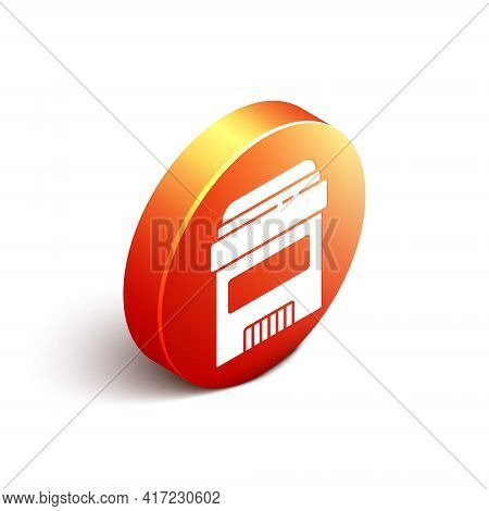Isometric Antiperspirant Deodorant Roll Icon Isolated On White Background. Cosmetic For Body Hygiene