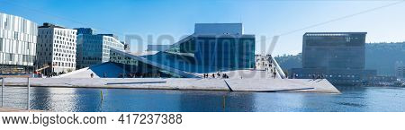 Oslo, Norway - September, 22, 2019: Building Of The Oslo Opera House Home Of The Norwegian National