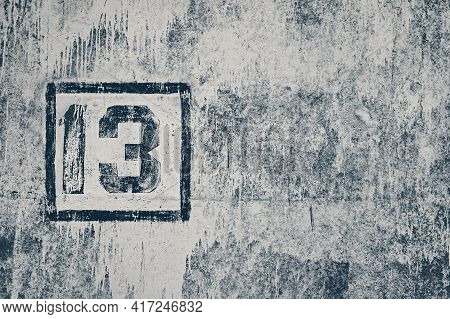 Number Thirteen On A Dirty Wall, Close-up