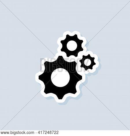 Account Settings Setting. Gear Icon. Gear Settings Icons. Cogwheel Logo. Vector On Isolated Backgrou