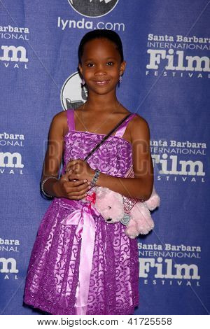 SANTA BARBARA - JAN 29:  Quvenzhane Wallis arrives at the  Santa Barbara International Film Festival's 2013 Virtuosos Award at Arlington Theater on January 29, 2013 in Santa Barbara, CA