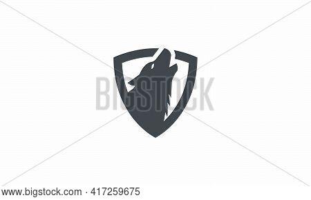 Wolf Shield Design Vector Illustration On White Background.