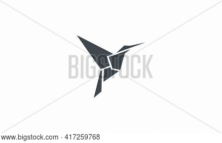 Hummingbird Vector Illustration On White Background. Creative Icon.