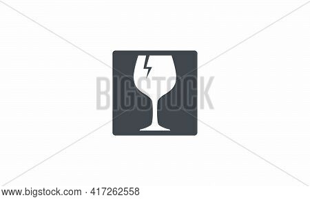 Fragile Icon. Vector Illustration. Isolated On White Background.