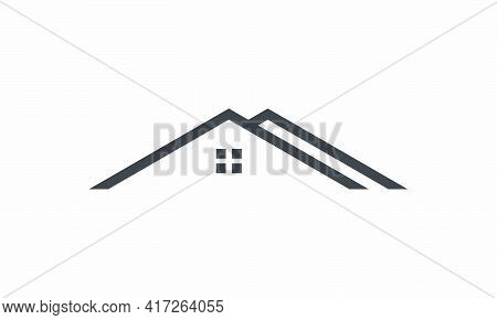 Roof Home  Icon Design Flat Vector Illustration. Isolated On White Background.
