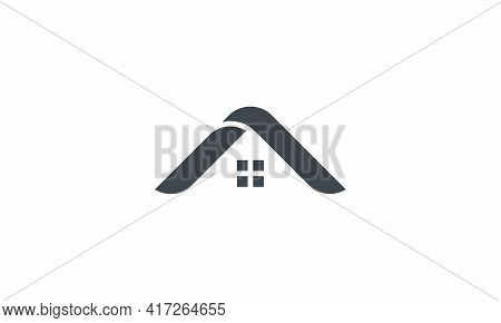 Roof Logo Design Concept. Vector Illustration. Isolated On Wite Background.