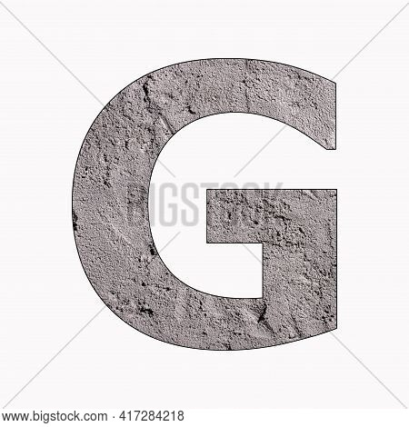 Letter G - Alphabet In Gray Stucco Texture