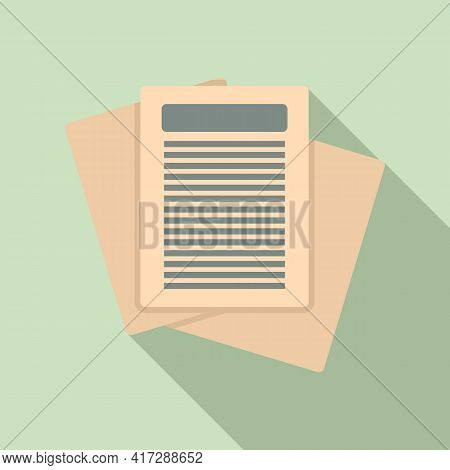 Archive Documents Icon. Flat Illustration Of Archive Documents Vector Icon For Web Design