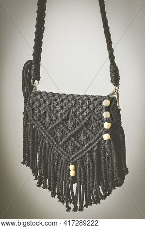 Hand Made Macrame Woven Stylish Woman's Hand Bag