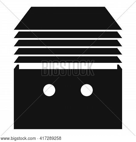 Stack Documents Icon. Simple Illustration Of Stack Documents Vector Icon For Web Design Isolated On