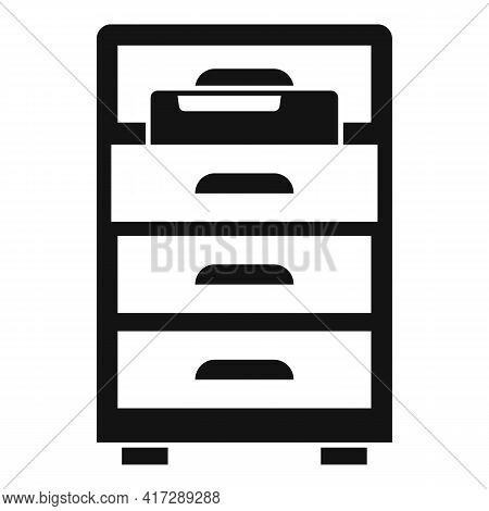 Drawer Folder Documents Icon. Simple Illustration Of Drawer Folder Documents Vector Icon For Web Des