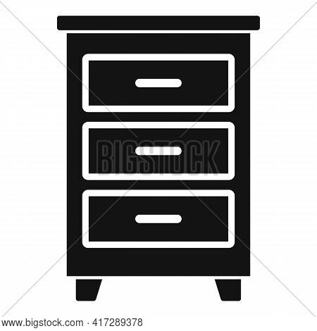 Wood Documents Drawer Icon. Simple Illustration Of Wood Documents Drawer Vector Icon For Web Design