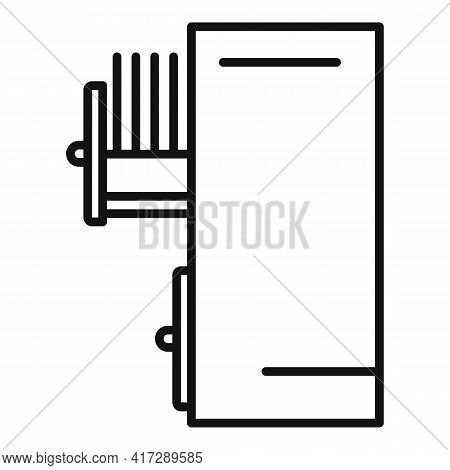 Drawer Storage Documents Icon. Outline Drawer Storage Documents Vector Icon For Web Design Isolated