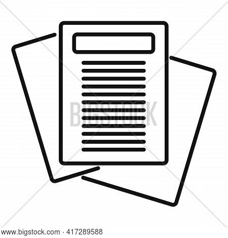 Archive Documents Icon. Outline Archive Documents Vector Icon For Web Design Isolated On White Backg
