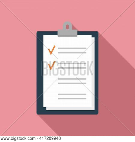 To-do List Post Icon. Flat Illustration Of To-do List Post Vector Icon For Web Design