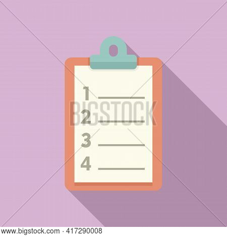 To-do List Board Icon. Flat Illustration Of To-do List Board Vector Icon For Web Design