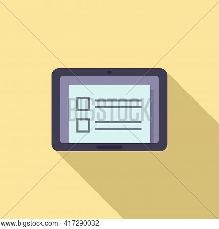 To-do List Tablet Icon. Flat Illustration Of To-do List Tablet Vector Icon For Web Design