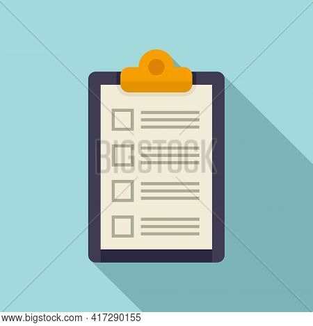 To-do List Agenda Icon. Flat Illustration Of To-do List Agenda Vector Icon For Web Design