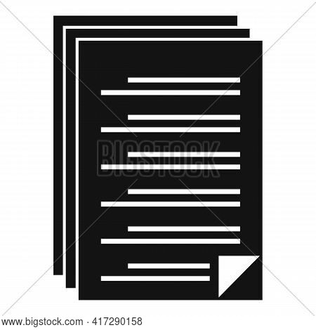 To-do List Icon. Simple Illustration Of To-do List Vector Icon For Web Design Isolated On White Back