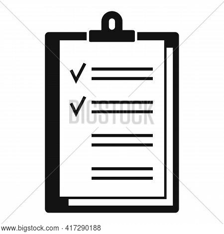 To-do List Post Icon. Simple Illustration Of To-do List Post Vector Icon For Web Design Isolated On