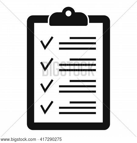 To-do List Clipboard Icon. Simple Illustration Of To-do List Clipboard Vector Icon For Web Design Is