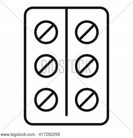 Tablets Pack Icon. Outline Tablets Pack Vector Icon For Web Design Isolated On White Background