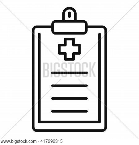 Medical Report Icon. Outline Medical Report Vector Icon For Web Design Isolated On White Background