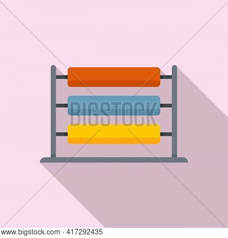 Wool Thread Production Icon. Flat Illustration Of Wool Thread Production Vector Icon For Web Design